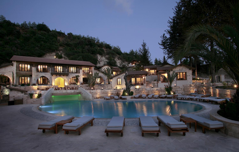 ayii-anargyri-pool-view-night
