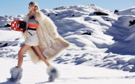 SKI FASHION: Stylish folks on the slopes