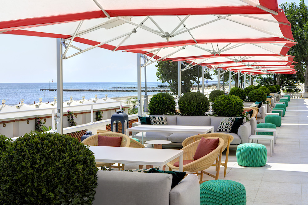 Summer Pop Up On Italian Hotel Excelsior S Venice Lido Beach