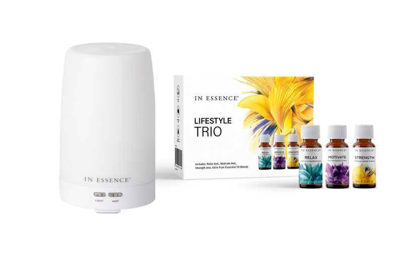 WIN Stone Ultrasonic Diffuser + Lifestyle Trio from In Essence ($159)