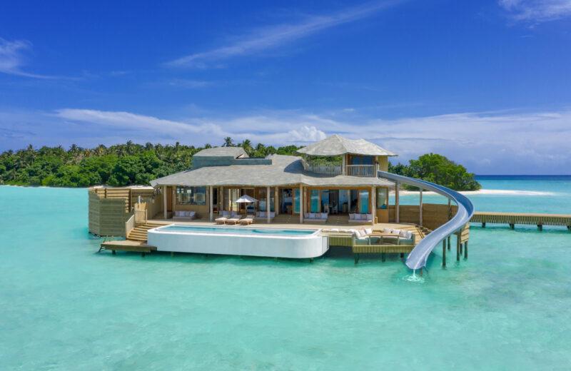 Soneva Fushi Maldives'new Water Retreats come with water slides